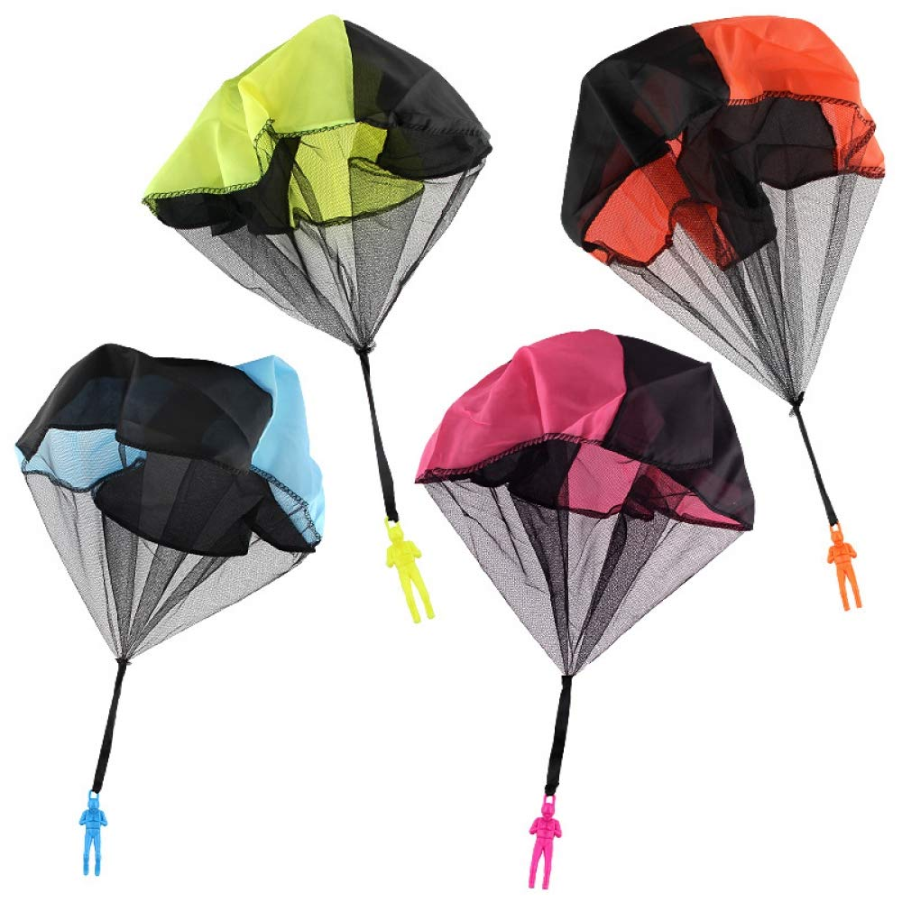 ZJHZN Kids Hand Parachute Toys for Children's Educational Parachute Throwing to Sky with Outdoor Fun Sports Play Game by ZJHZN