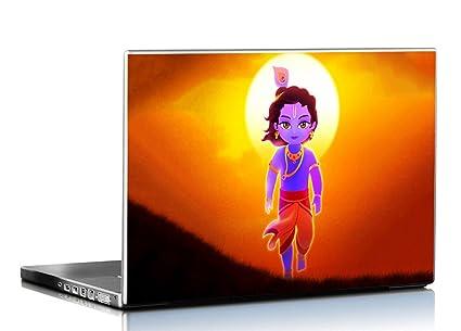 pixelartz laptop skin lord krishna illustration hd quality