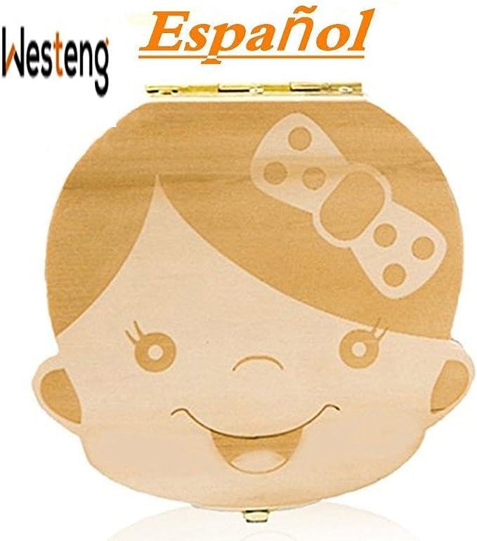 Westeng Caja Almacenamiento Madera Almacenaje para Dientes De ...