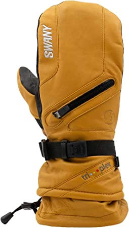 Details about  /Mens Swany X-Cell Leather Under Gloves Mittens Ski Snow Waterproof Insulated