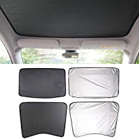 Moonlinks Tesla Model 3 The Mesh Sunshade+UV/Heat Insulation Film Compatible with 2017 2018 2019 Tesla Model 3 Glass Roof Sunshade for car Windshield(4 Pieces) (Tesla Model 3 Roof Sunshade Sunroof)