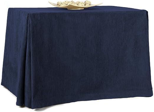 Rioma 110 Falda para Mesa Camilla, Tejido 100% poliéster, Azul ...