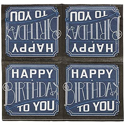 JAM PAPER Birthday Party Beverage Napkins - 5 x 5 - Happy Birthday to You - 16 Napkins/Pack: Health & Personal Care