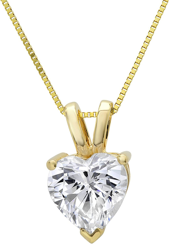 0.50ct Brilliant Created Diamond Cross Pendant 14K Yellow Gold Crucifix Charm