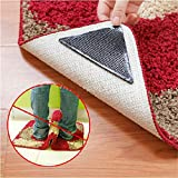 Doradus 4pcs Rug Carpet Mat Grippers Non Slip Reusable Washable Silicone Grip
