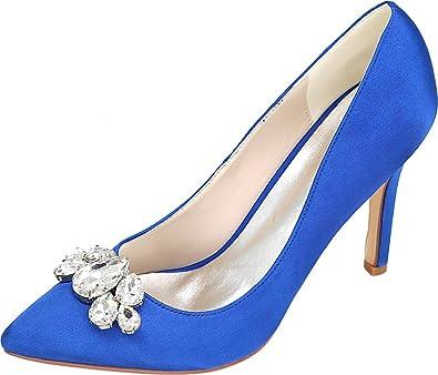 CFP , Damen Durchgängies Plateau Sandalen mit Keilabsatz , blau - blau - Größe: 36.5