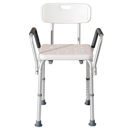 99 opinioni per Homcom- Sedile da doccia con schienale e braccioli- Sedile da vasca, sedia