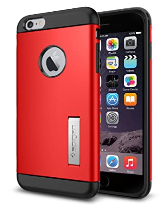 9859b071501 Spigen Slim Armor Cover Case for iPhone 6 Plus - Electric Red (Retail  Packaging): Amazon.co.uk: Electronics