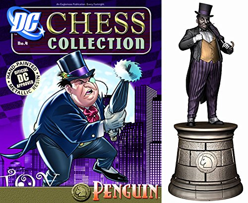 Figuren des Comics Schachspiels Harz DC Comics des Chess Collection Nº 4 Penguin a0d8dd
