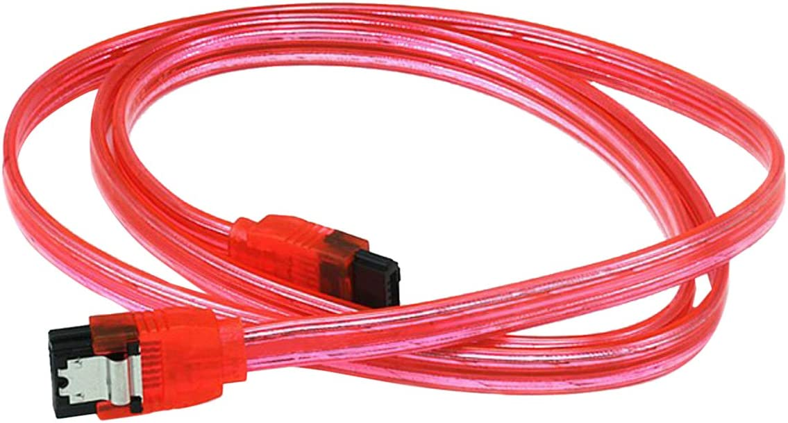 Blue 90 Degree to 180 Degree CNE561646 C/&E 18 SATA 6Gbps Cable with Locking Latch