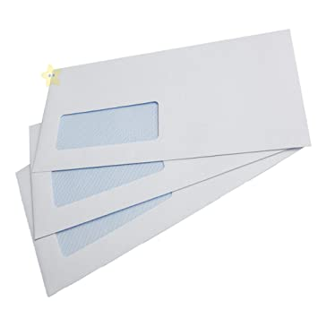 100 x PAPER ENVELOPES DL Window White Self Sealing Seal Office//Work 110x220mm