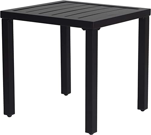 Kozyard Modern Classic Outdoor 18″x18″ Patio Side Table Table Only