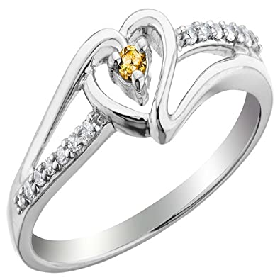 9474d72bf Buy Kiara Valentine Sterling Silver Ring made with Swarovski Zirconia  VAR044 Online at Low Prices in India | Amazon Jewellery Store - Amazon.in