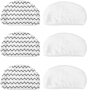 ESO 6 Pack Washable Mopping & Scrubbing Pads Replacement Compatible with Bissell Powerfresh 1940 1440 1544 Series Steam Mop Model 1544A, 2075A, 1440, 1940W,19404