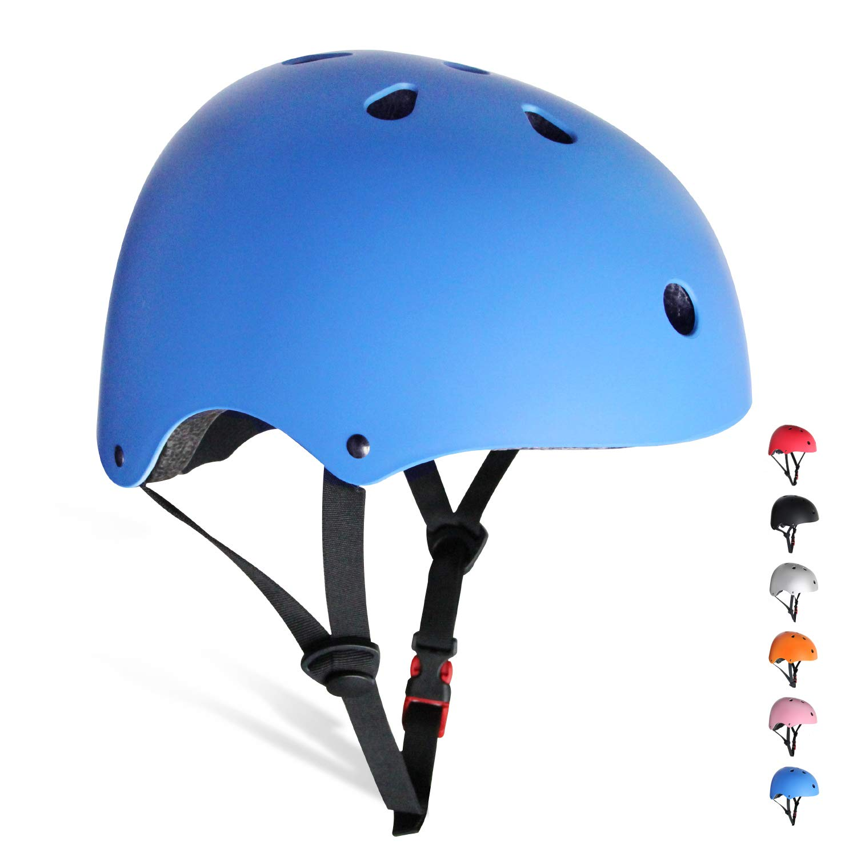 KORIMEFA Kids/Teen Bike Helmet Toddler Helmet Adjustable Kids Helmet CPSC Certified Girls Multi-Sport Safety Cycling Skateboard Scooter Helmet,Blue S