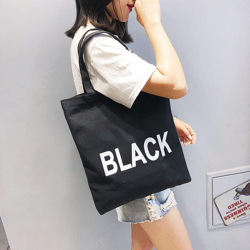 Fashion ladies canvas bag college shoulder bag handbag Crossbody bag