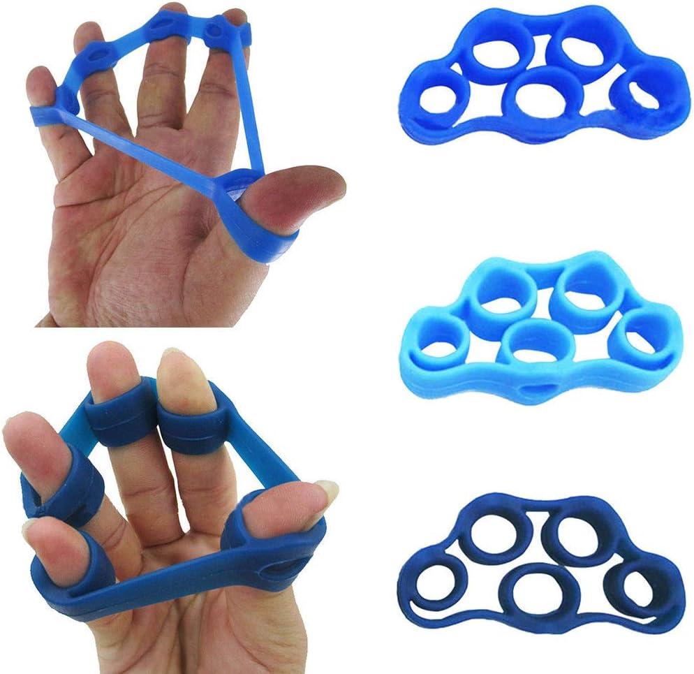 Boolavard - Juego de 3 extensores de mano para ejercitar el dedo y fortalecer el entrenamiento de fuerza, para artritis, túnel carpiano, ejercicio, guitarra y escalada de rocas