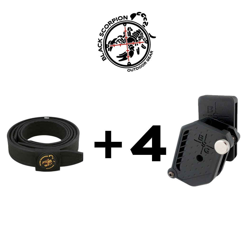 Black Scorpion Outdoor Gear Combo Rig N3 Belt + 4 Storm Grand Master (X Large) by Black Scorpion Outdoor Gear