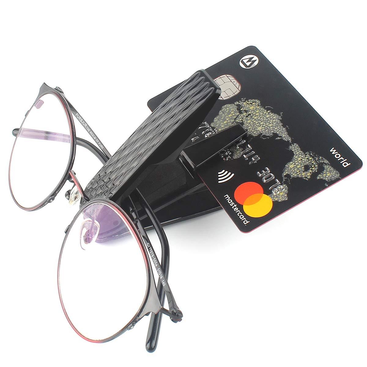 Premium Visor Eyeglass Clip 2Pack Double Layer Auto Sunglasses Holder Clip for Cars Vehicles Sun Visor KMMIN Car Sunglass Holder