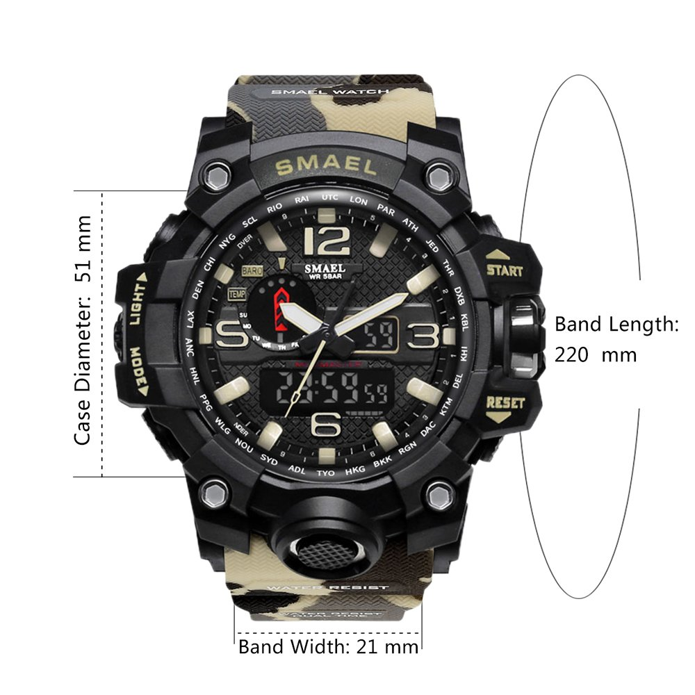Amazon.com: Brand Military Sports Watches Digital Camouflage Wrist Watch Large: Watches