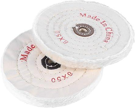 Yardwe 2 UNIDS 6 pulgadas 150mm V/ástago Abrasivo Rueda de Tela Pulido Pulido Juego de Ruedas Para Herramienta Rotativa
