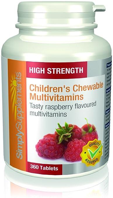 2 opinioni per Multivitaminico masticabile per bambini |Al gusto di Lampone, con Vitamine A, C