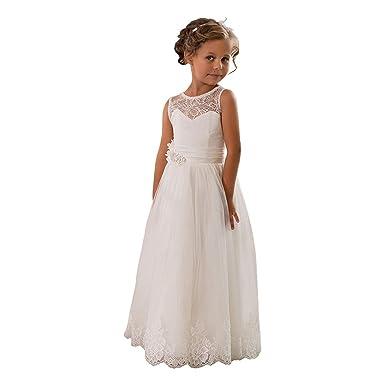 perfekte Qualität heißer verkauf rabatt exquisite handwerkskunst Kengtong Kengtong Weiß Mädchen Ärmellos Spitze ...