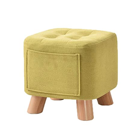 Soft Ottoman Coffee Table.Amazon Com Square Wooden Soft Ottoman Footstool Home Creative Cloth