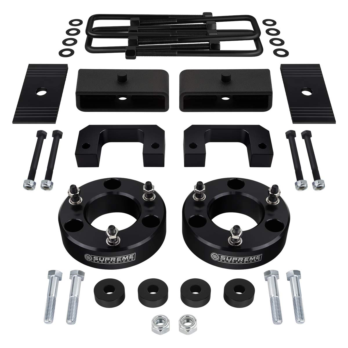 3 Front and 2 Rear Suspension Leveling lift kit for 2007-2018 for Chevrolet Silverado 1500 GMC Sierra 1500