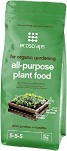 EcoScraps for Organic Gardening All-Purpose Plant Food, 4 lbs
