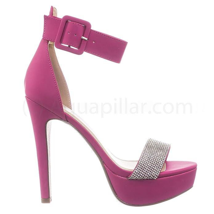 f3844838a376 Amazon.com  Speed Limit 98 Rhinestone Encrusted Platform High Heel Sandal w  Thick Ankle Strap  Shoes