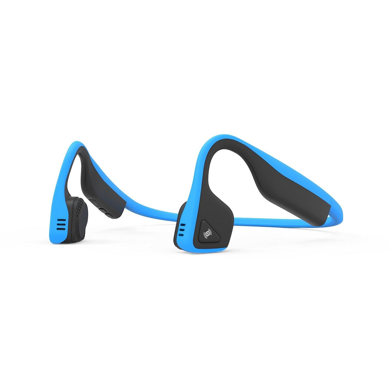 AfterShokz Trekz Titanium Open Ear Wireless Bone Conduction Headphones, Ocean Blue, (AS600OB)