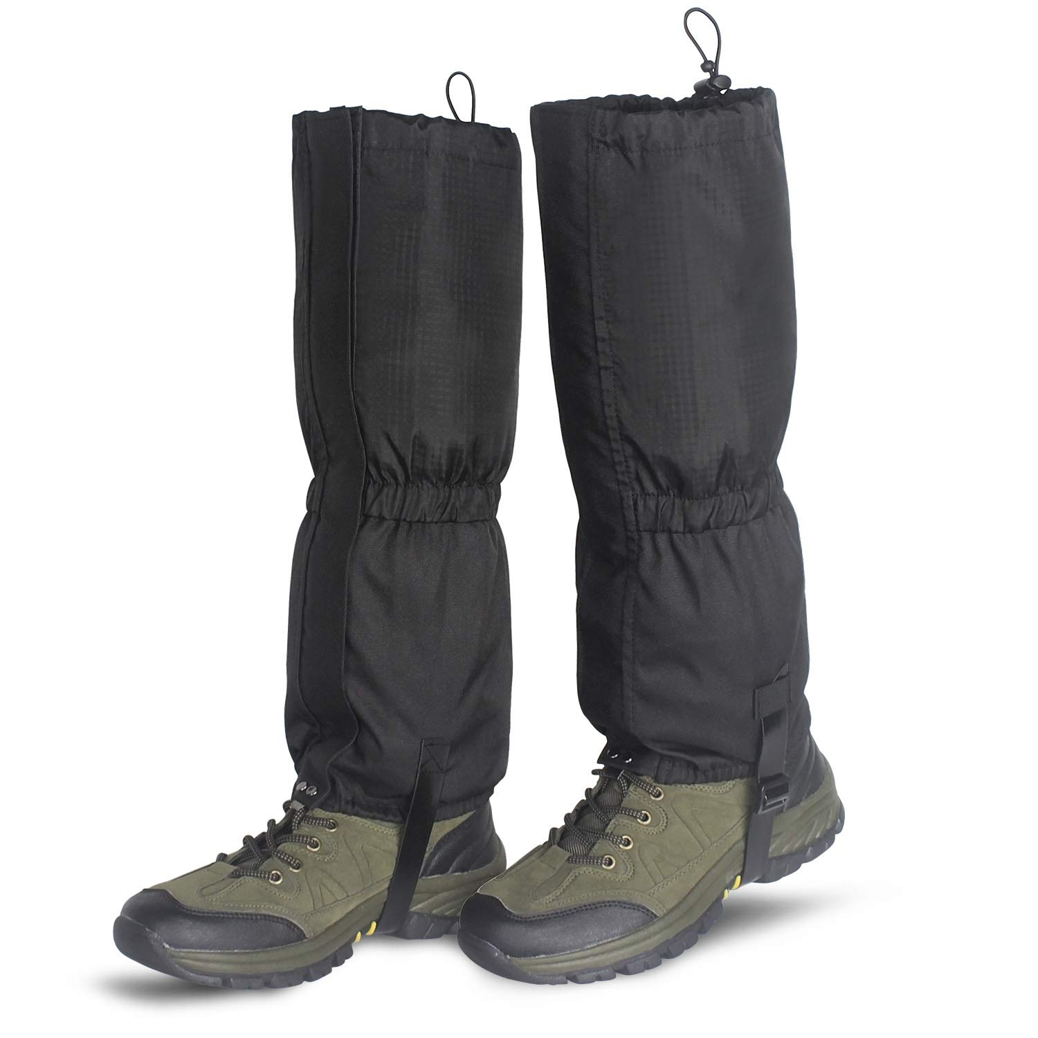Unigear Leg Gaiters Waterproof Boot Gaiters with Zipper for Hiking Hunting Climbing Snowing for Men and Women (Black, S) by Unigear
