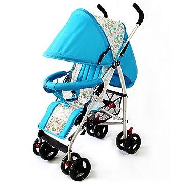 Cochecito Anna Sistema del Recorrido bebé bebé Paraguas Plegable 4 Ruedas Carro Puede Sentarse bebé reclinable Azul y Rojo Peso del rodamiento 35kg ...