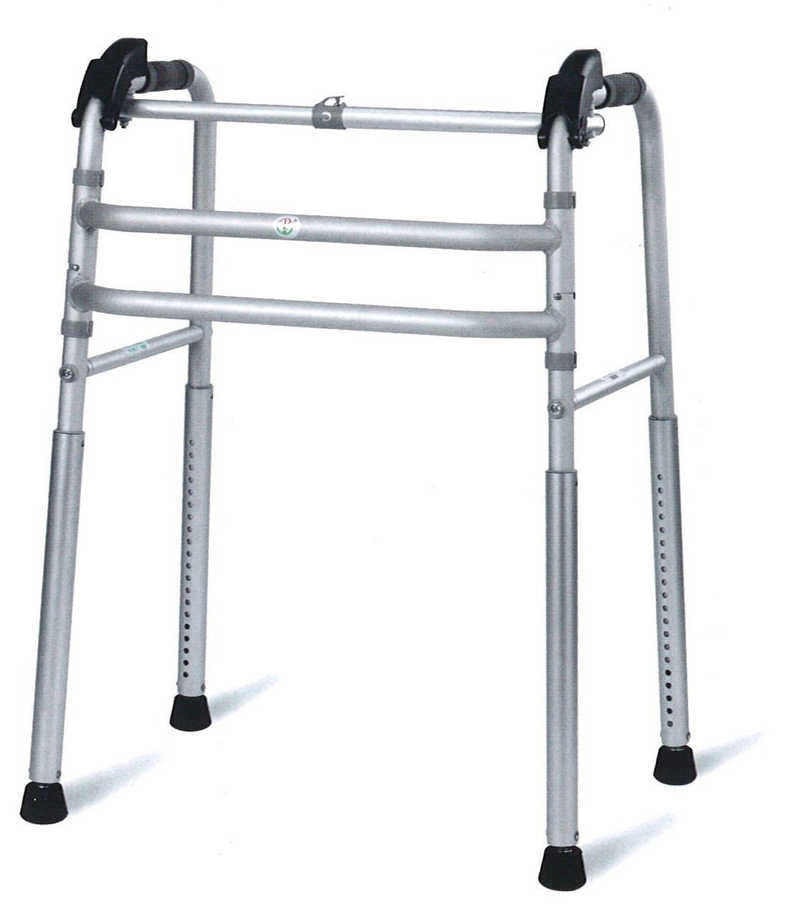 【パッセジャータ】 階段やスロープでも使える 固定型 歩行器 20段階高さ調節 軽量 折りたたみ アルミ製 多機能 キャリングバッグ 付 PW800-212 B074M53MB3