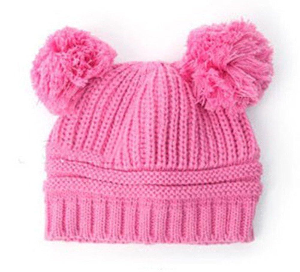 343b256c2b2 Amazon.com  Cute Colors Baby Children Kids Girls Boys Stretchy Warm Winter  Cap Hat Beanie (Pink)  Clothing