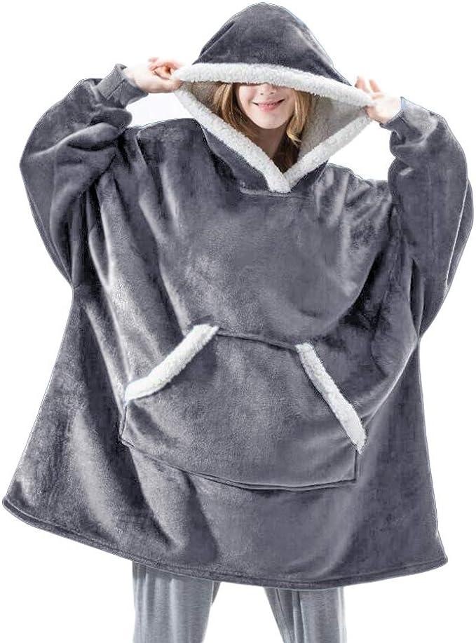 Hoodie-Decke Übergroßes  bequemes Sherpa Riesen Sweatshirt mit großer Kapuze Hot