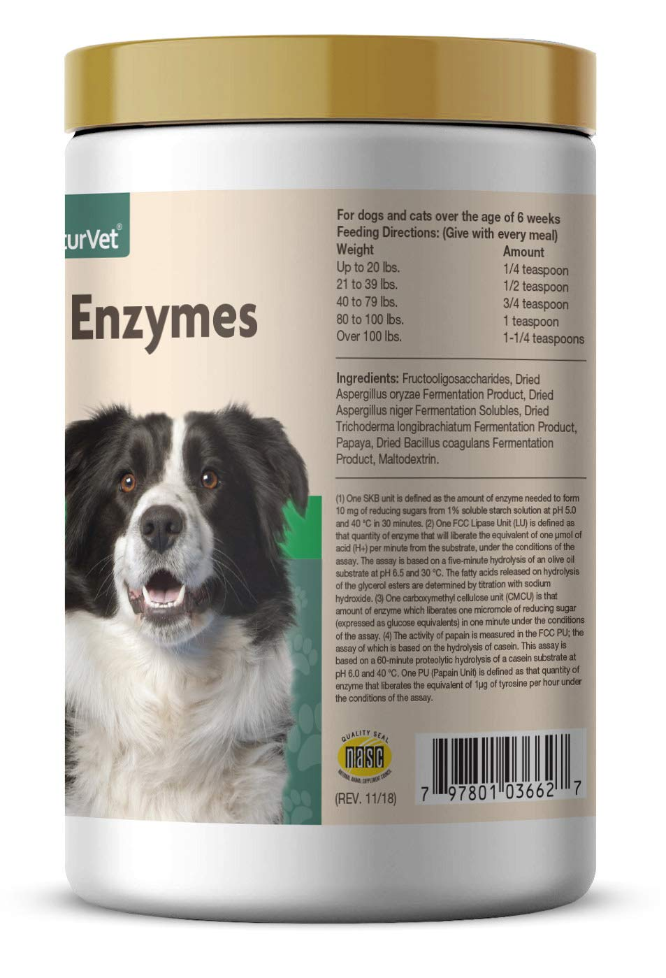 NaturVet – Digestive Enzymes for Dogs - Plus Probiotics & Prebiotics | Helps Support Diet Change & A Healthy Digestive Tract | for Dogs & Cats