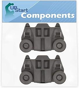 2-Pack W10195417 Dishwasher Wheel Replacement for KitchenAid KDTE104EBL3 Dishwasher - Compatible with WPW10195417 Dishwasher Rack Roller - UpStart Components Brand