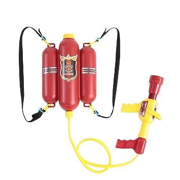 b4f29d6bc24b5 Goolsky Pompier Jouets Sac à Dos d eau Jouet Blaster extincteur avec buse  et Réservoir