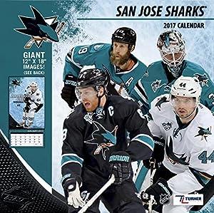 "Turner Licensing Sport 2017 San Jose Sharks Team Wall Calendar, 12""X12"" (17998011954)"