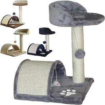 Beltom Rascador Afilador Uñas para Gatos Árbol Escalador Mascota Rascarse Juego 50 cm - Gris: Amazon.es: Hogar