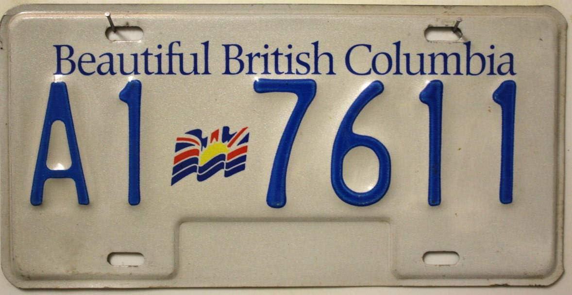 British Columbia Nummernschild Kanada Kennzeichen Auto Schild Aus Nordamerika Canada License Plate Metallschild Auto