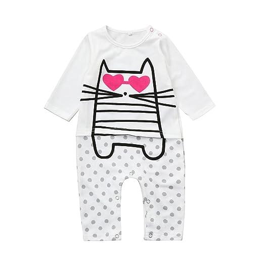 63c3de0c5012 Amazon.com  Ecurson Newborn Baby Boys Girls Cartoon Cat Heart Dot ...