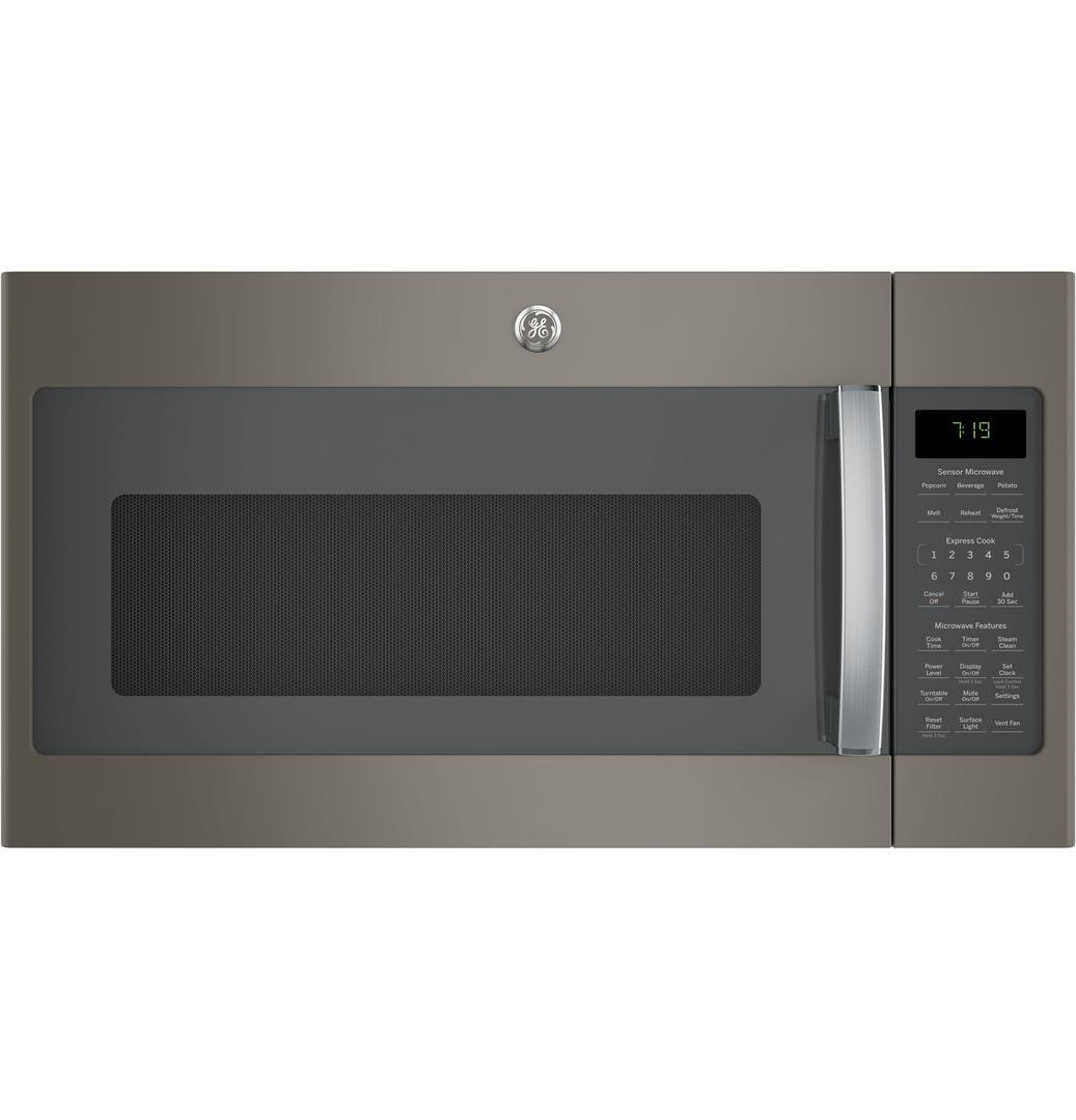 Height of microwave over stove - Ge Jvm7195ekes 30 Over The Range Microwave Oven In Slate