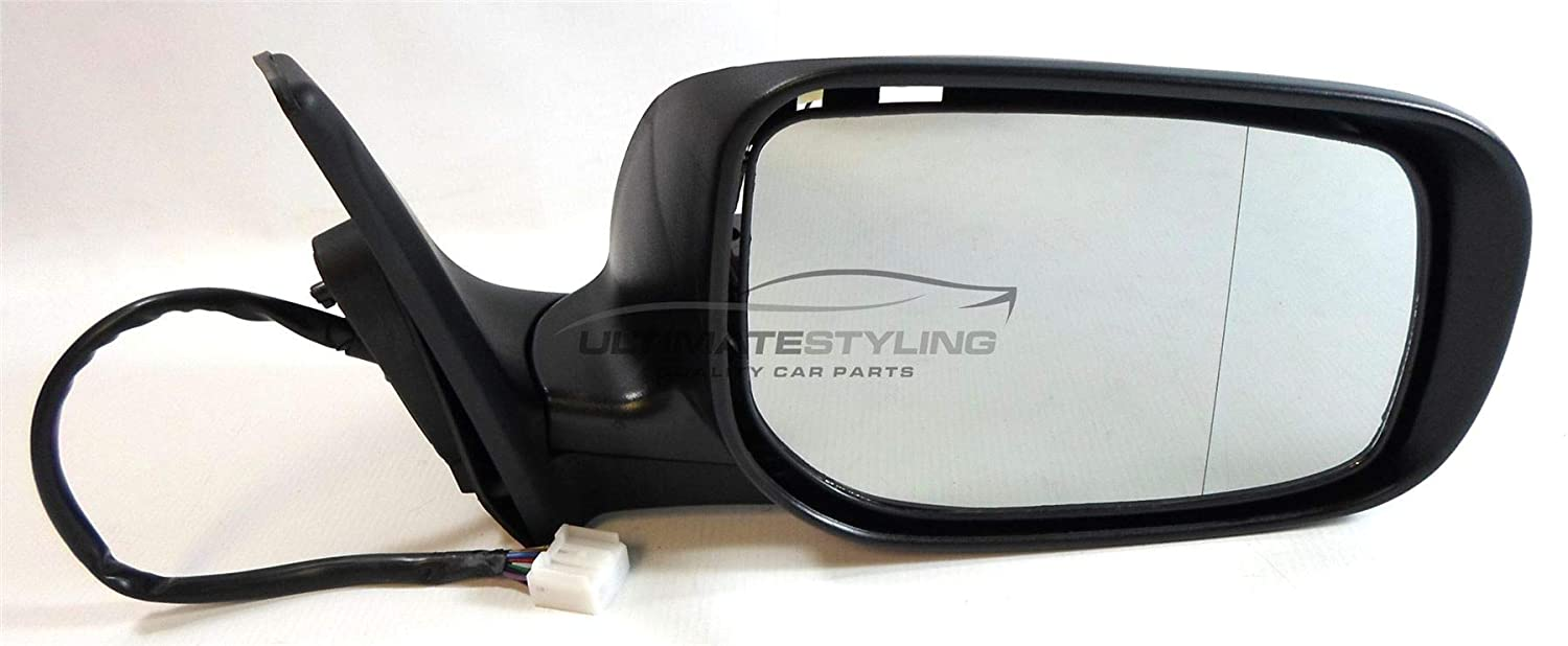 RH Ultimate Styling Replacement Electric Power Folding Wing Door Mirror With Heated Glass With Primed Mirror Cover Cap Side Of Product Drivers Side