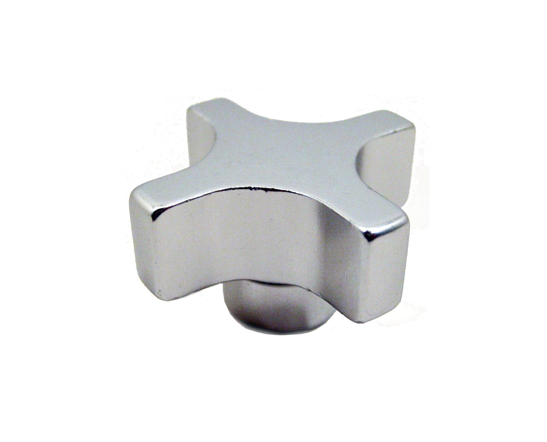 JW Winco Aluminum 6063-T5 Clamping Tapped Hand Knob, Threaded Hole, 5/8-11 Thread Size x 1-1/4 Thread Depth, 3'' Head Diameter (Pack of 1)