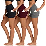 "TNNZEET Yoga Shorts for Women – 8""4""Inseam Biker Shorts High Waisted with Side Pockets for Running, Workout"