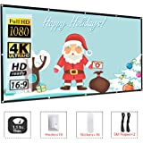 LOVAC 120 Inch Projector Screen,4k Rear Projection Screen 16:9 HD,Foldable Portable Anti-Crease Outdoor Movie Screen for Home Theater (Thick)