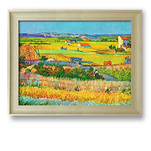 Van Vincent Gogh Harvest (Framed Art Prints - The Harvest by Vincent van Gogh - Famous Painting Wall Decor - 24